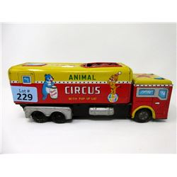 1950/60s Wind-Up Circus Truck w/ Animal Pop-Up
