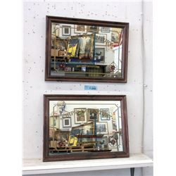 """Pair of Framed Mirrors """"Ships of the 19th Century"""""""