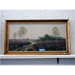 Vintage Framed Landscape Print