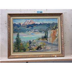 Original Edith Leach Oil on Board Painting