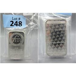 5 Oz First Majestic Mint .999 Silver Bar