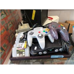Nintendo 64 with Controllers & 7 Games