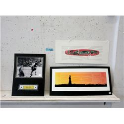 2 First Nation Prints & Bobby Orr Photo