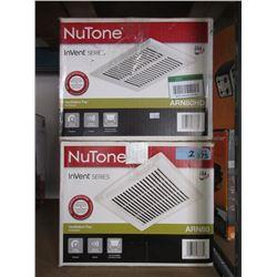 2 NuTone Ventilation Fans
