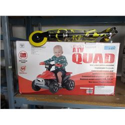Children's Scooter & 6 Volt ATV Quad