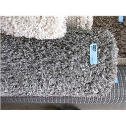 5' x 7' Grey Shag Carpet - Store Return