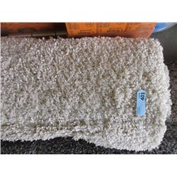 5' x 7' Beige Shag Carpet - Store Return