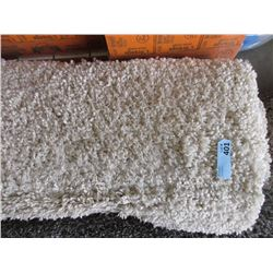 5' x 7' Beige Shag Carpet - Store Return