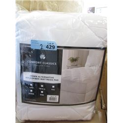 New Twin XL Size Cotton Sateen Top Mattress Pad