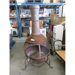 Metal Fire Pit with Chimney