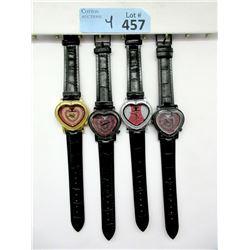 "4 New ""Diamond King"" Heart Shaped Watches"