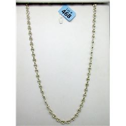 30 Inch Sterling Silver Ocean Link Necklace