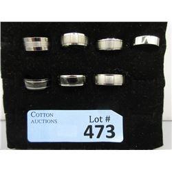7 New Unisex Titanium Band Rings