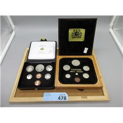 Two Uncirculated Canadian Mint Coin Sets
