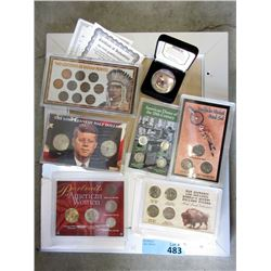 7 American Coins Sets in Protective Cases