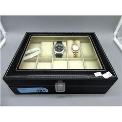 10 Watch Storage Box with 2 Rolex Watches