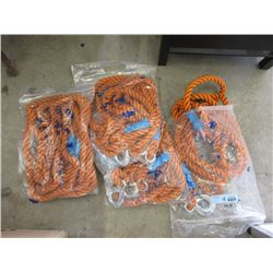 """4 New 20 Foot Tow Rope with 7/8"""" Hook"""