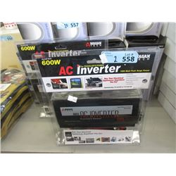 2 New 600 W AC Inverters