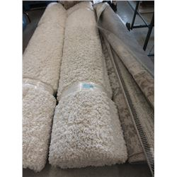 8' x 10' Ivory Shag Carpet- Store Return