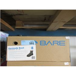 New Bare Kermode Grey Felt Boot - Size 8