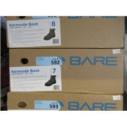 New Bare Kermode Grey Felt Boot - Size 7