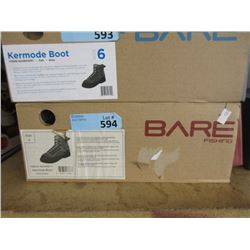 New Bare Kermode Grey Felt Boot - Size 5