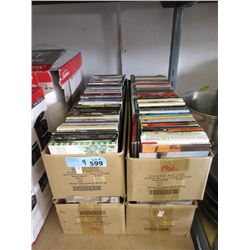 4 Boxes of Assorted Music CDs