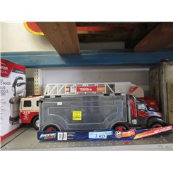 Truck Carrying Case & Plastic Tonka Fire Truck