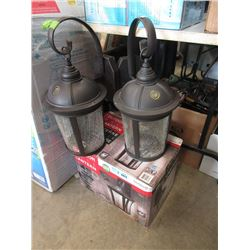 3 LED Outdoor Lanterns - Store Returns