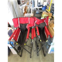 2 Folding Camp Chairs with Cup Holders