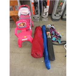 Folding Chairs, Children's Stool & Doll Stroller