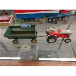 Die-Cast Tractor with John Deere Trailer