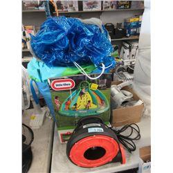 Electric blower, water slide & pump