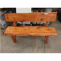 Hand Crafted 4 Foot Wood Bench