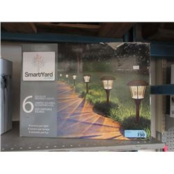 Set of 6 LED Solar Pathway Lights - Store Returns