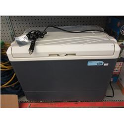 Large Coleman Cooler with Car Charger