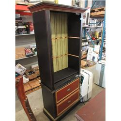 Wood Cabinet with 2 Drawers in the Base