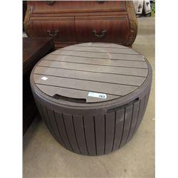 Resin Patio Storage Stool