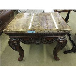 Large Marble Top Side Table