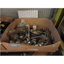 Box of Silver Plated Items