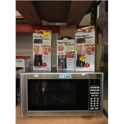 Hamilton Beach Microwave, Grinder & 2 Blenders