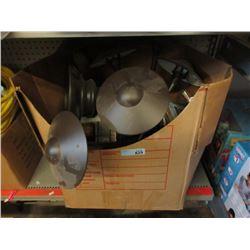 Large Box of Metal Lamps & Parts