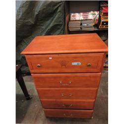 5 Drawer Wood Dresser