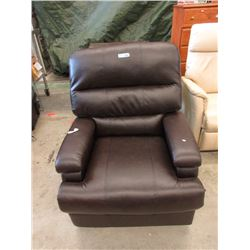 Brown Bonded Leather Manual Recliner