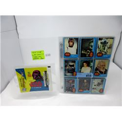 1977 Star Wars Series 1 Cards and Wrapper