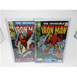 "Two 1969 ""Iron Man"" 15¢ Marvel Comics - #16 & #17"