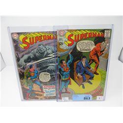 "Two 1968 ""Superman"" 12¢ DC Comics - #211 & #216"