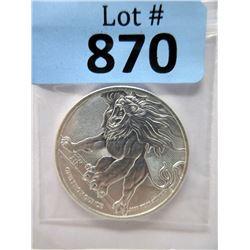 """1 Ounce Niue """"Roaring Lion"""" .9999 Silver Coin"""