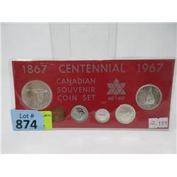 1967 Canadian Centennial Souvenir Coin Set
