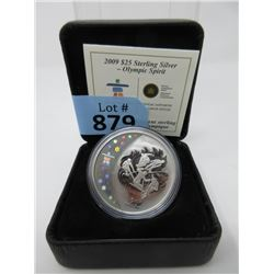 Sterling Silver Vancouver 2010 Olympics $25 Coin